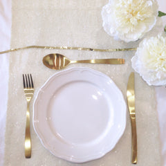 Ivory Sequin Table Runner - The Sweet Hostess  - 2