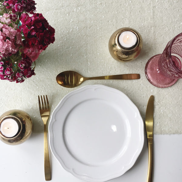 Ivory Sequin Table Runner