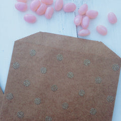 Gold Glitter Dots Kraft Party Bags - The Sweet Hostess  - 2