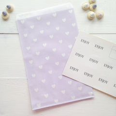 Lavender Heart Party Bags - The Sweet Hostess  - 2