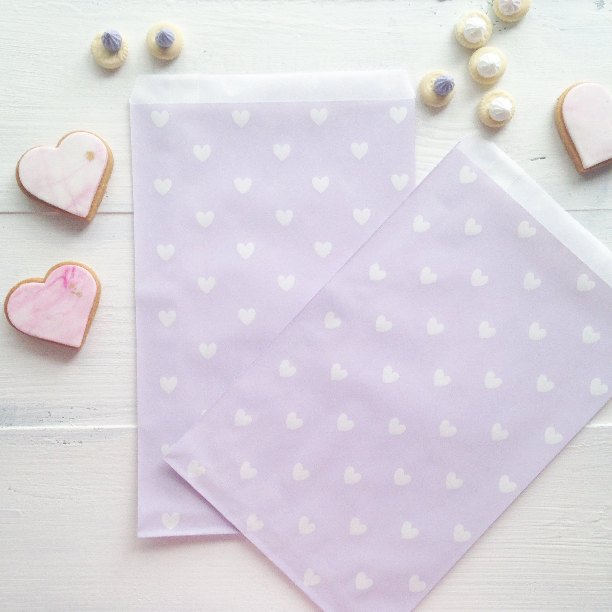 Lavender Heart Party Bags - The Sweet Hostess  - 1