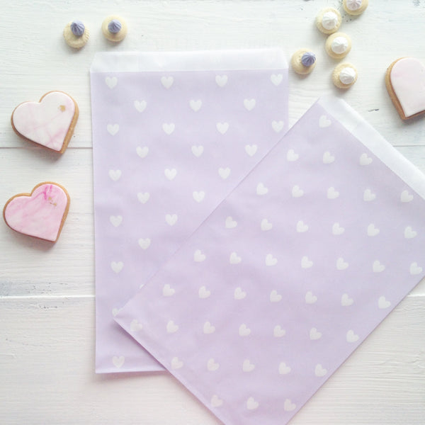 Lavender Heart Party Bags