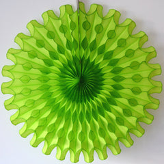Lime Green Paper Fan 18 inch - The Sweet Hostess