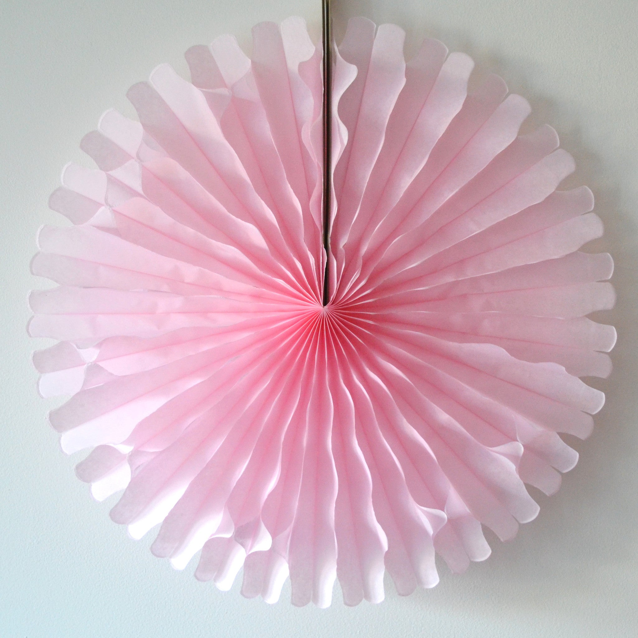 Light Pink Paper Fan 18 inch - The Sweet Hostess