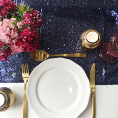Midnight Blue Sequin Table Runner - The Sweet Hostess  - 1