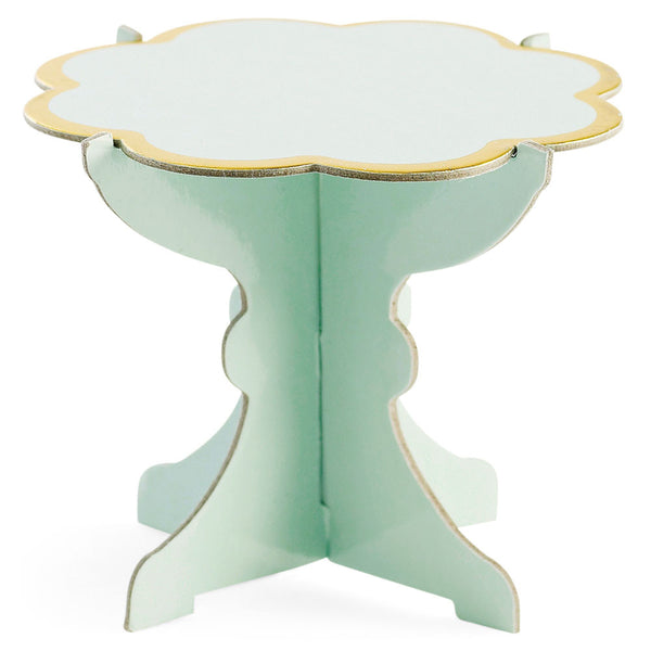 Six Green Cupcake Stands
