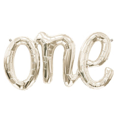 Gold One Script Balloon - The Sweet Hostess