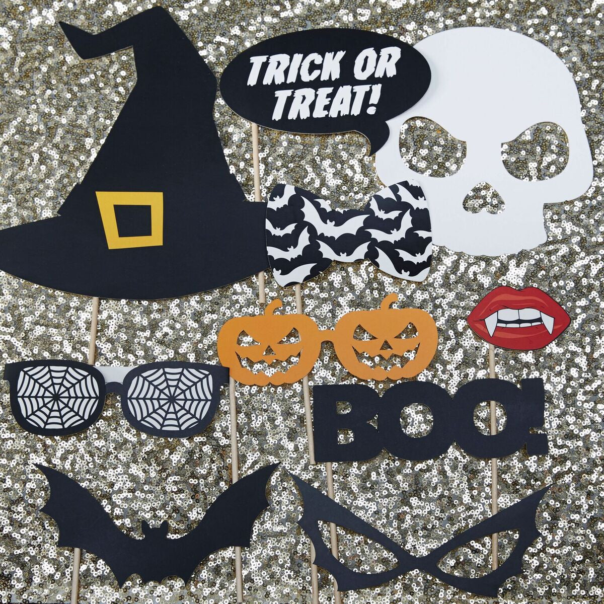 15% OFF - Halloween Photo Booth Props - Trick Or Treat - The Sweet Hostess