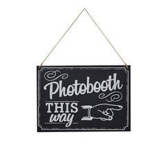 Chalkboard Photo Booth Sign - The Sweet Hostess
