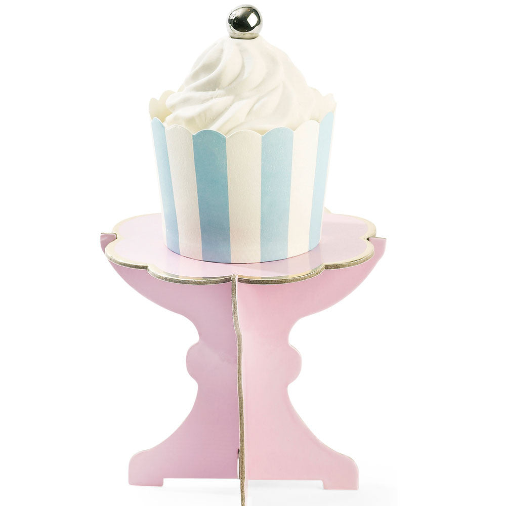 Six Pink Cupcake Stands - The Sweet Hostess