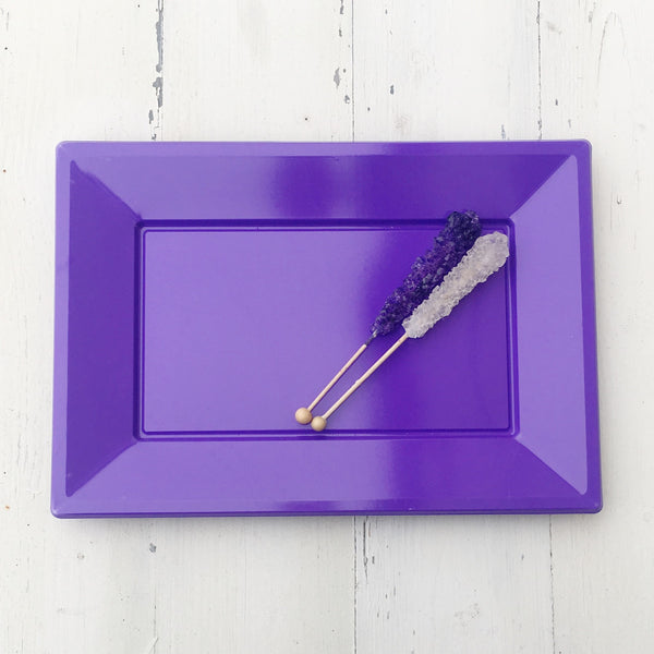 Lavender Plastic Serving Platter 3 Pack