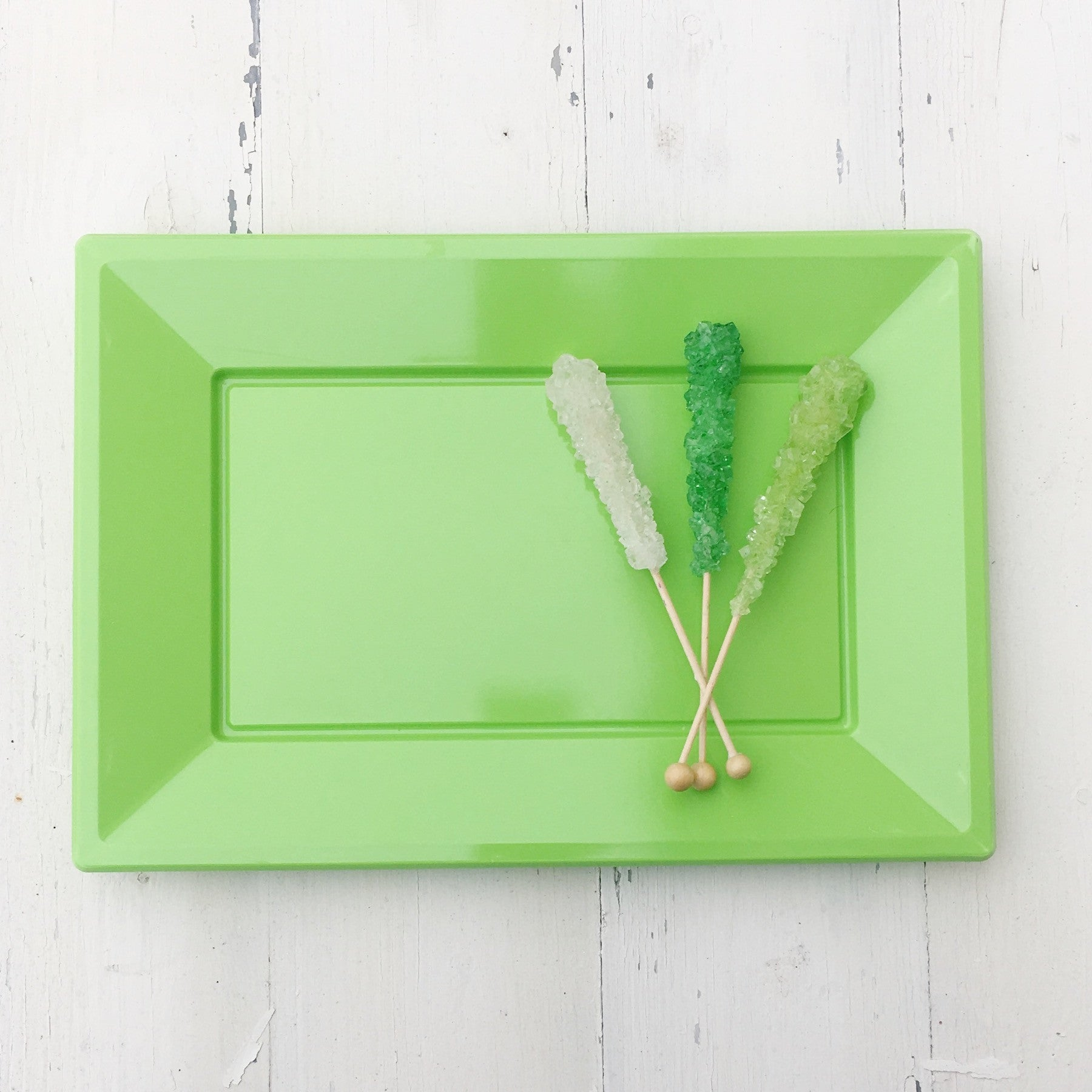 Lime Plastic Serving Platter 3 Pack - The Sweet Hostess
