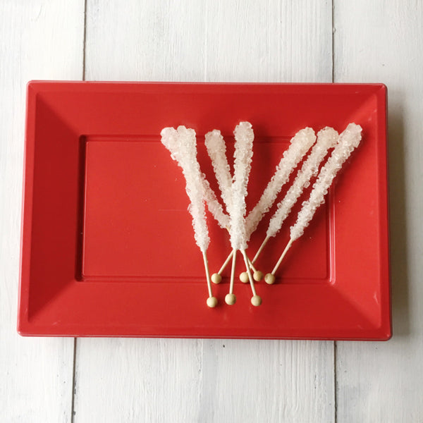 Red Plastic Serving Platter 3 Pack
