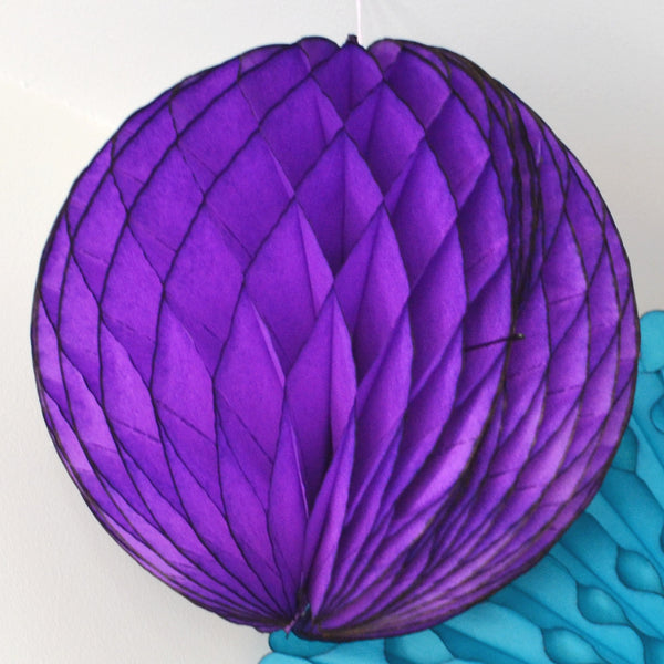 Purple Honeycomb Tissue Ball