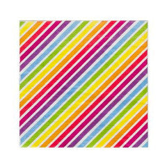 Rainbow Stripe Napkins - The Sweet Hostess