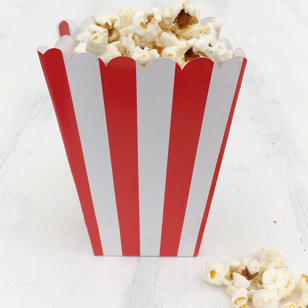 Red Stripe Popcorn Boxes