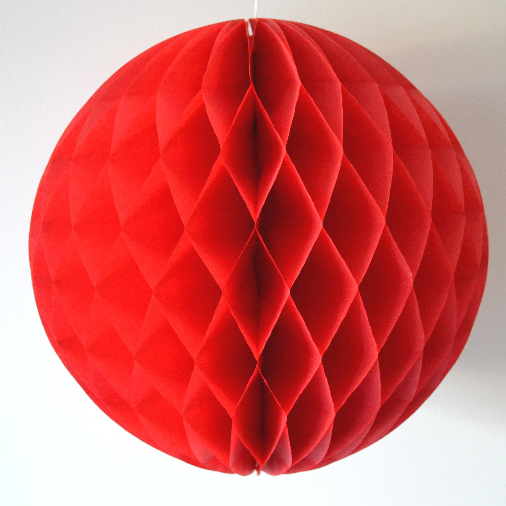 Red Honeycomb Tissue Ball - The Sweet Hostess