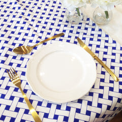 Blue / White Lattice Table Runner - The Sweet Hostess  - 2