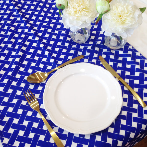 Blue / White Lattice Table Runner