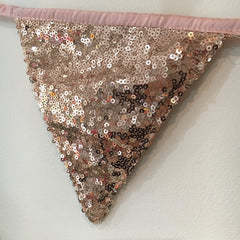 Rose Gold Sequin Bunting - The Sweet Hostess  - 4