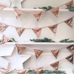 Rose Gold Sequin Bunting - The Sweet Hostess  - 1