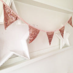 Rose Gold Sequin Bunting - The Sweet Hostess  - 3