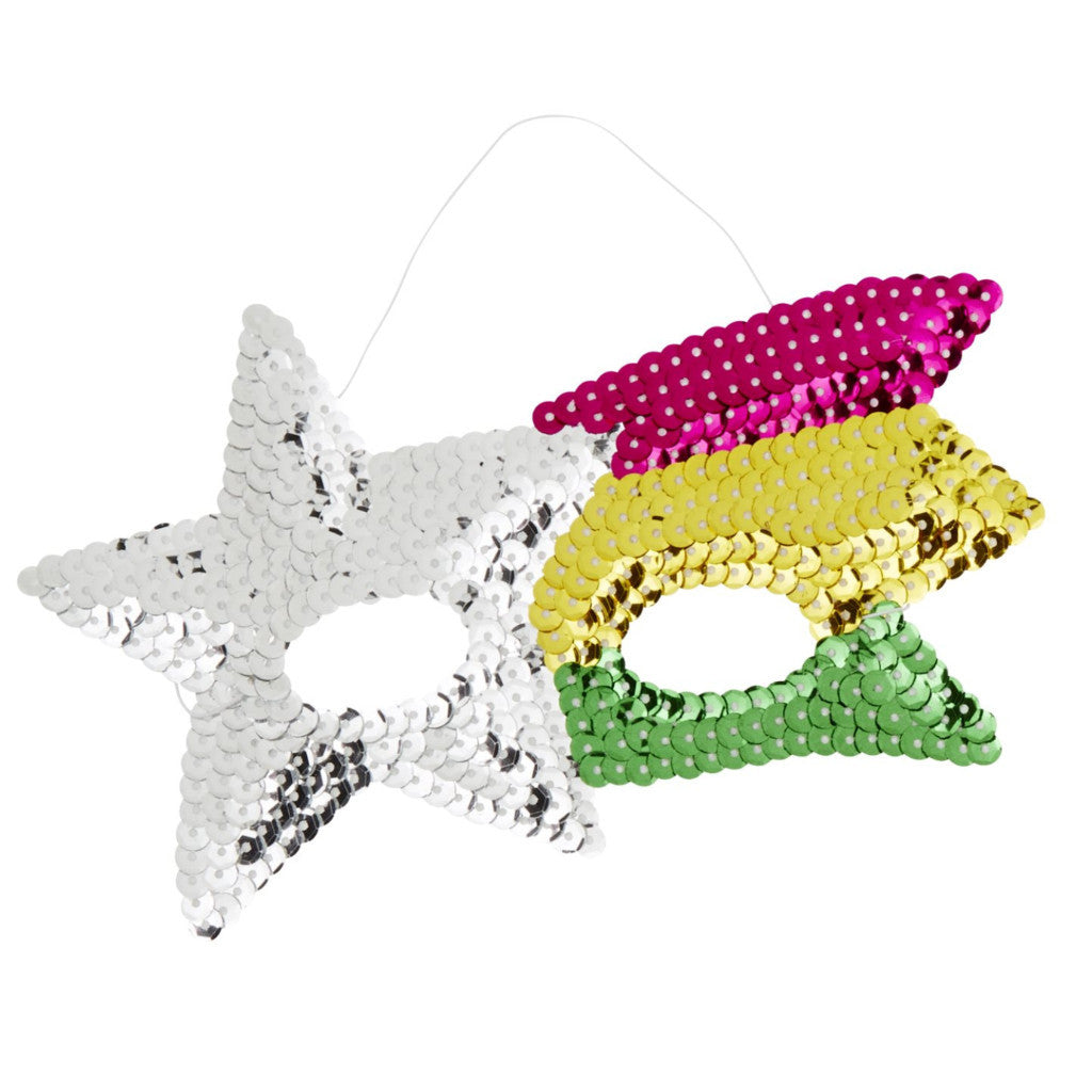 Sequin Rainbow Shooting Star Mask - The Sweet Hostess