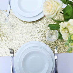 Sparkly Gold Sequin Table Runner - The Sweet Hostess  - 4