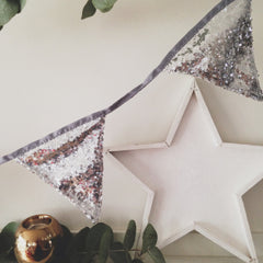 Silver Sequin Bunting - The Sweet Hostess  - 3