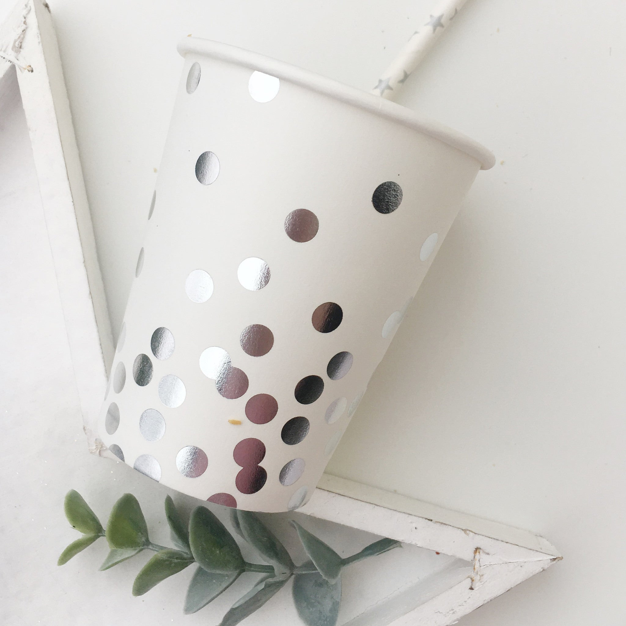 Silver Confetti Foil Paper Cups - The Sweet Hostess