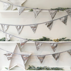 Silver Sequin Bunting - The Sweet Hostess  - 1