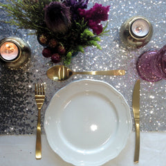 Silver Sequin Table Runner - The Sweet Hostess  - 1