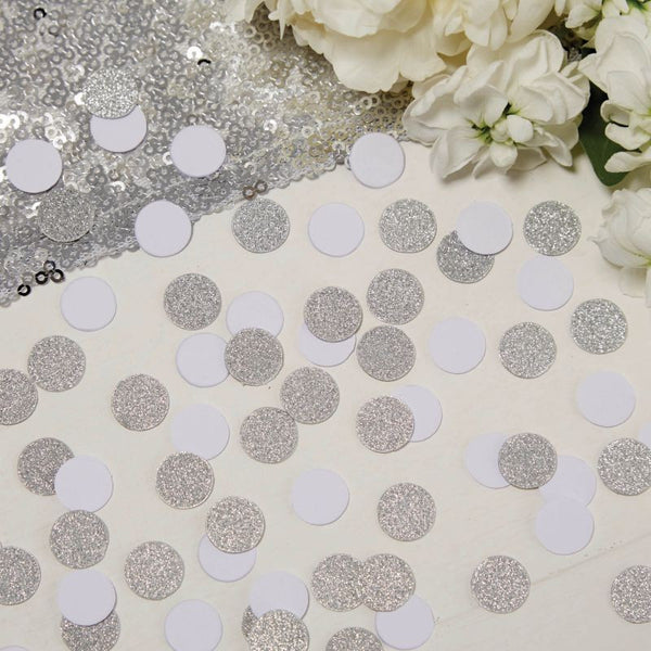 Silver and White Confetti