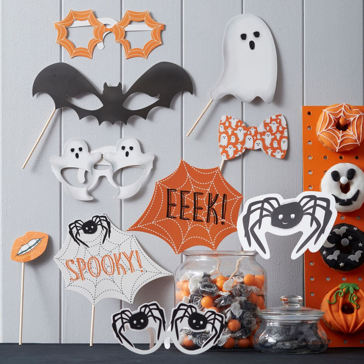 Spooky Halloween Photo Booth Props - The Sweet Hostess