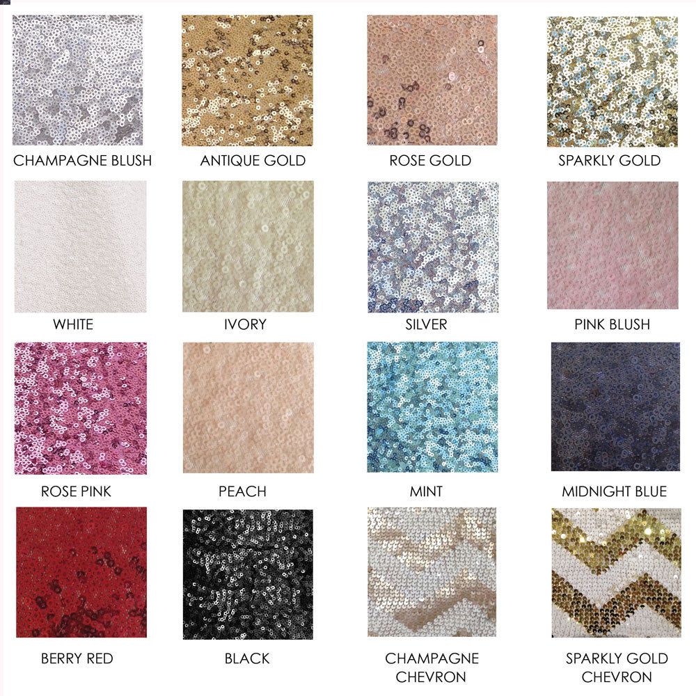 Sequin Swatch Samples - The Sweet Hostess
