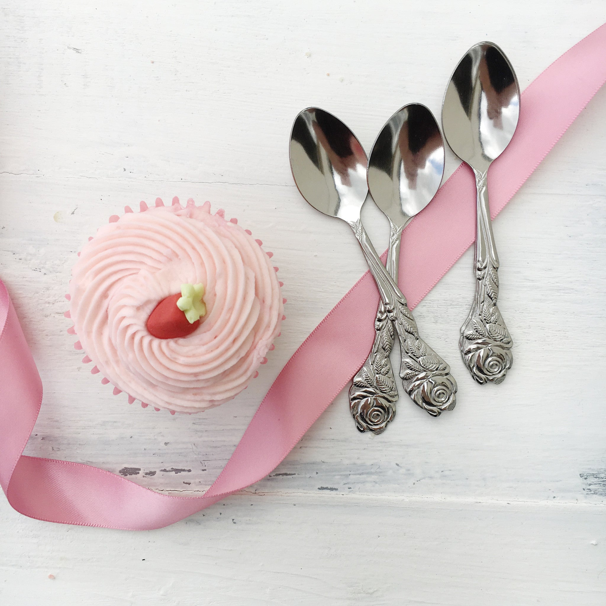 Small Rose Tea Spoons - The Sweet Hostess  - 1