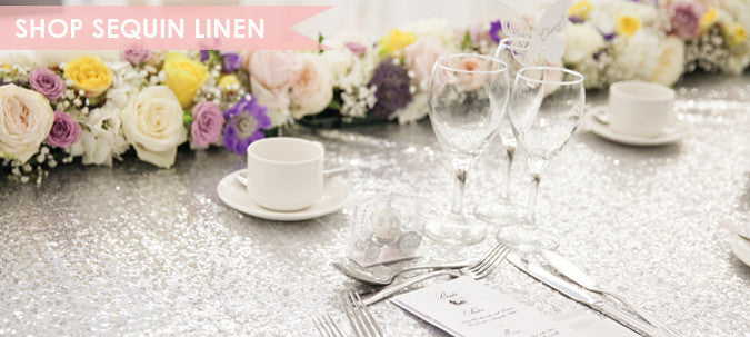 Sequin Table Linen