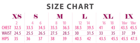 Size Chart for Nudy Patooty
