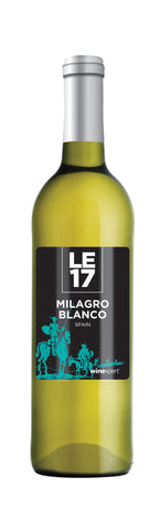 Photo of a bottle of Milagro Blanco wine