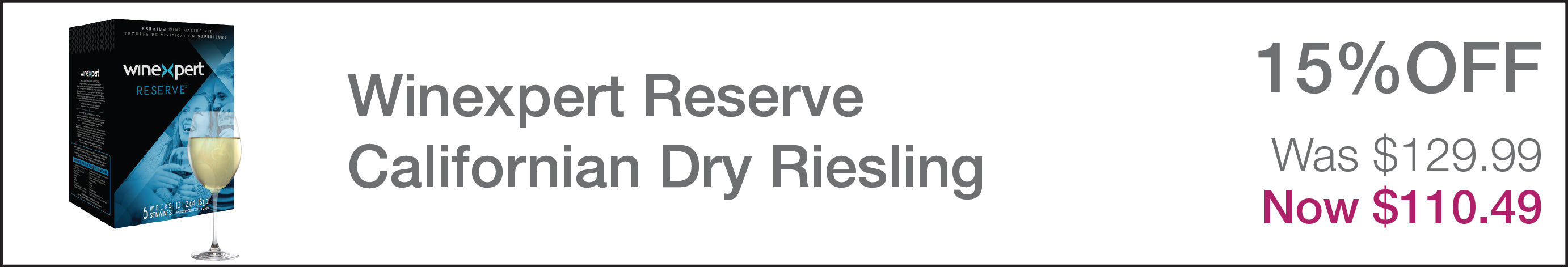 Winexpert Reserve Californian Dry Riesling
