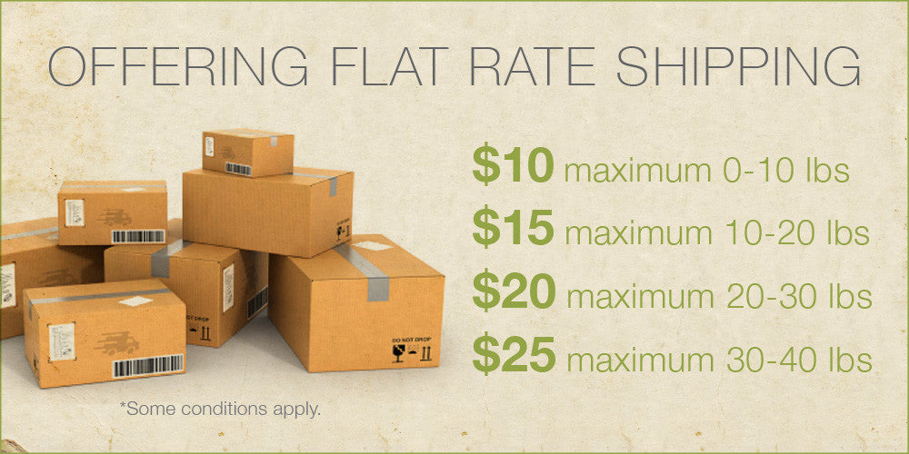 Offering Flat Shipping Rates.