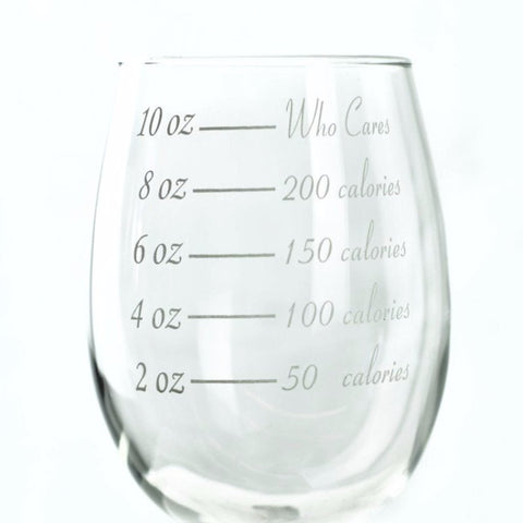 Wine Glasses, Calorie Counting