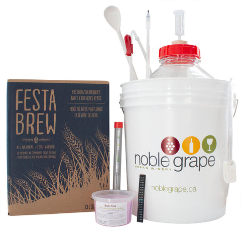 Beer Starter Kit with Festa Brew Beer Kit - Noble Grape