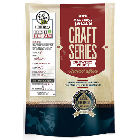 Mangrove Jack's Craft Series Brewery Pouch - Irish Red Ale + Dry Hops