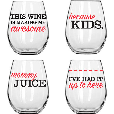 Wine Glasses - Parents, Set of 4