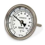 "Thermometer - Brewers Best, Welded Dail (4"")"