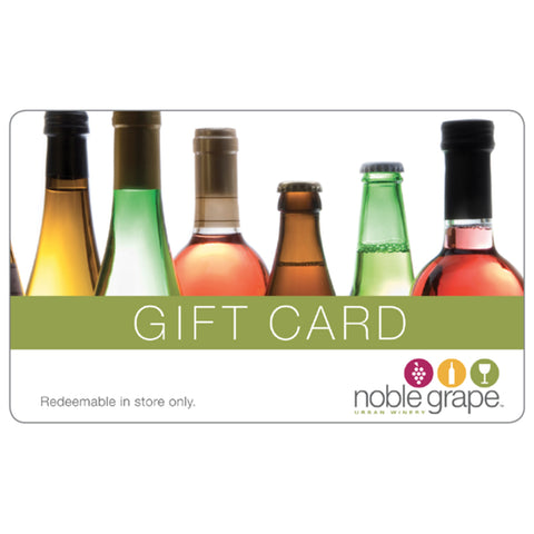Gift Card, In Store Only - Noble Grape