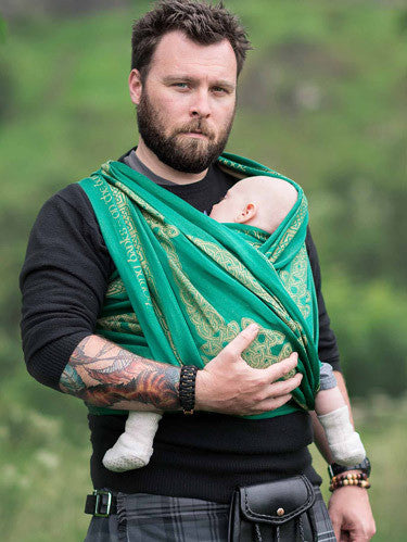 Oscha Slings - Caledonia Braes Baby Wrap, Oscha Slings, Green Baby Planet