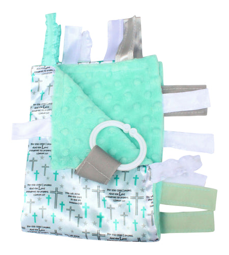 Baby Jack - Baptism Lovey 14x18, Baby Jack & Co, Green Baby Planet