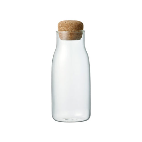 "Small Sized Glass Canister with a Cork Lid ""Bottlit"""